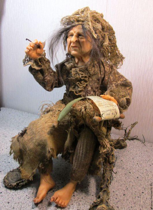 Куклы и игрушки ручной работы. Ярмарка Мастеров - ручная работа. Купить Баба-Яга. Handmade. Баба яга, хаки