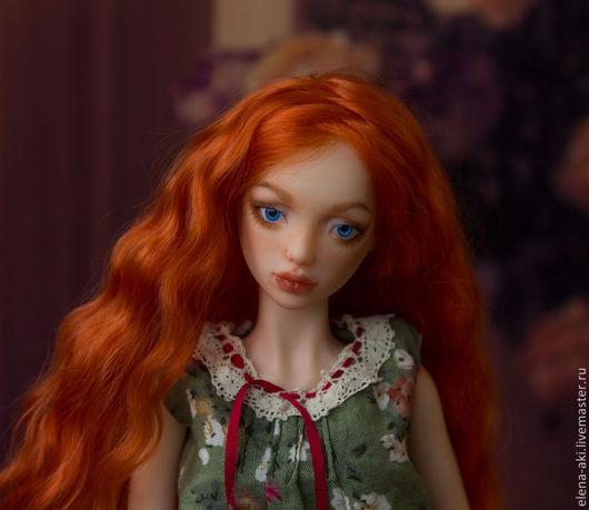 Коллекционные куклы ручной работы. Ярмарка Мастеров - ручная работа. Купить Мишель, 13-я из тиража.Шарнирная полиуретановая.. Handmade. Голубой