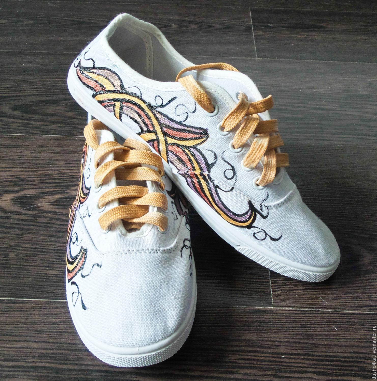 крутые кроссовки с рисунками