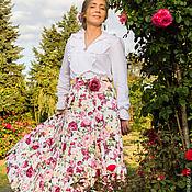 Одежда ручной работы. Ярмарка Мастеров - ручная работа Юбка Розовый сад. Handmade.