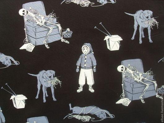 """Шитье ручной работы. Ярмарка Мастеров - ручная работа. Купить Ткань """"Кошмары вязальщицы"""". Handmade. Ткани, ткань про вязание"""