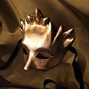 Одежда ручной работы. Ярмарка Мастеров - ручная работа Маска венецианская Дионисо Серебро. Handmade.