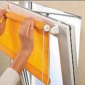handmade. Livemaster - original item Rolled curtains orange solid 57 cm( to order any ). Handmade.