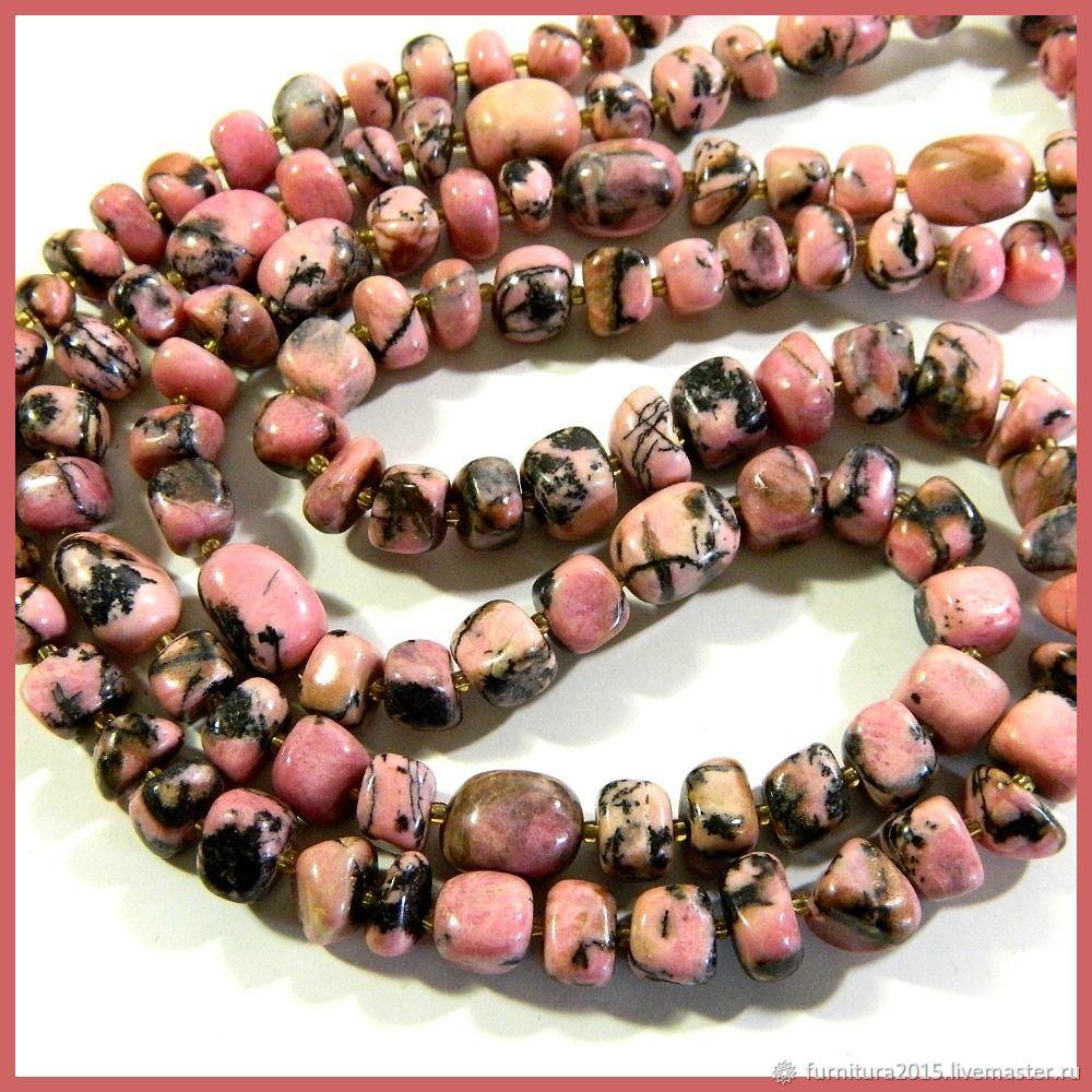 Rhodonite pink. Thread, Beads1, Saratov,  Фото №1
