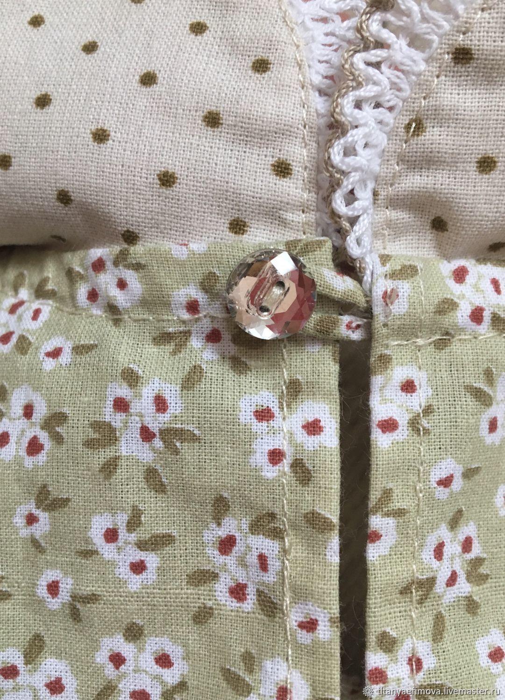 Детское платье из хлопка кружево и кристалл Swarovski