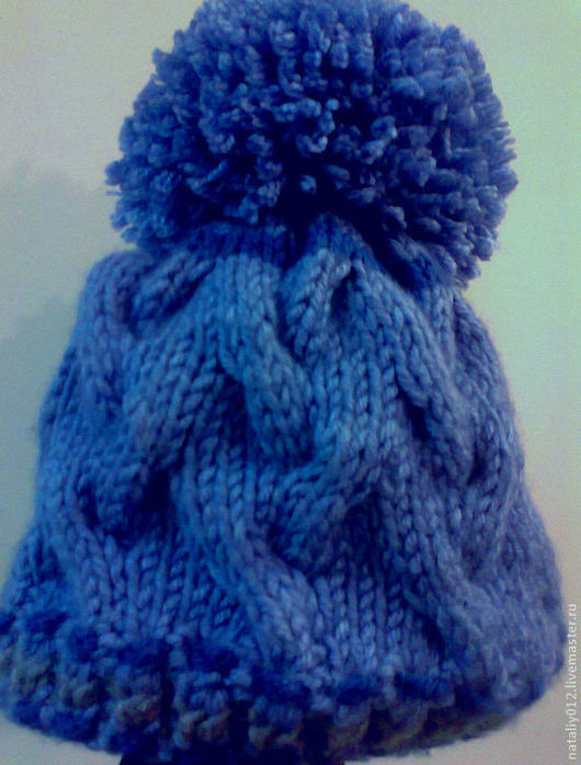 """Шапки ручной работы. Ярмарка Мастеров - ручная работа. Купить Вязаная шапочка """"Blue jeans"""". Handmade. Синий, вязаная шапка"""
