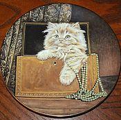 Винтаж handmade. Livemaster - original item A delightful collection of plates with kittens, England. Handmade.