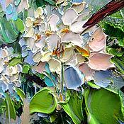 Картины ручной работы. Ярмарка Мастеров - ручная работа Картина маслом Цветущая груша. Handmade.
