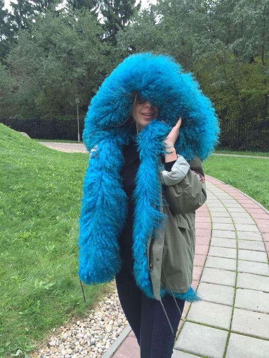 """Верхняя одежда ручной работы. Ярмарка Мастеров - ручная работа. Купить Куртка """"синий дым"""". Handmade. Парка, куртка с капюшоном"""
