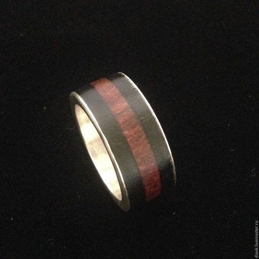 Кольца ручной работы. Ярмарка Мастеров - ручная работа. Купить Кольцо с деревом - Полоса силы. Handmade. Черный, кольцо из дерева