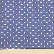 Материалы для творчества ручной работы. Ярмарка Мастеров - ручная работа 100% хлопок, Польша, горошки на синем фоне 7 мм. Handmade.