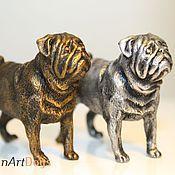 Для дома и интерьера ручной работы. Ярмарка Мастеров - ручная работа МОПС - статуэтка (оловянная миниатюрная фигурка собаки). Handmade.