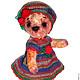 """Мишки Тедди ручной работы. Ярмарка Мастеров - ручная работа. Купить """"Веснушка"""" 21см Мишка из винтажного плюша. Handmade. Бежевый"""