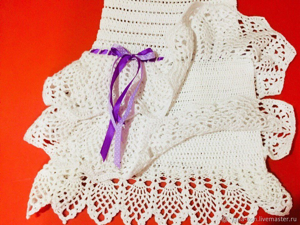 Ажурное платье с подкладом