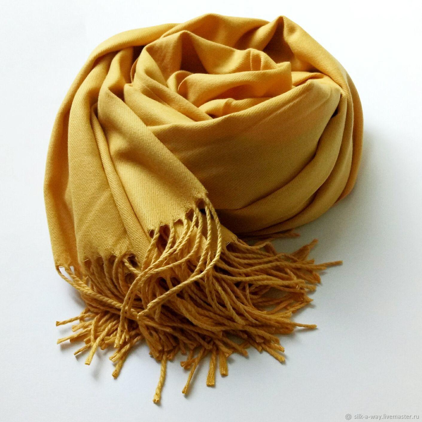 Желтый палантин шарф однотонный, Палантины, Москва,  Фото №1