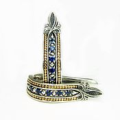 Украшения handmade. Livemaster - original item Earrings silver Track with London Topaz. Handmade.