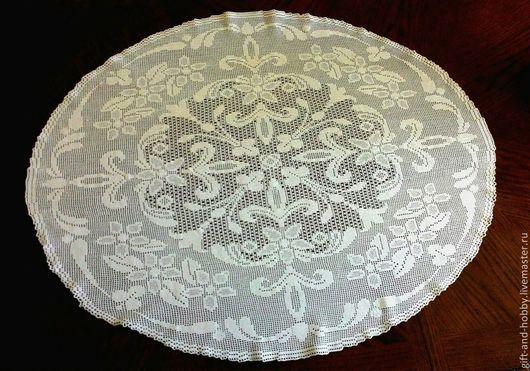 Текстиль, ковры ручной работы. Ярмарка Мастеров - ручная работа. Купить Салфетка филейная. Handmade. Белый, салфетка вязаная