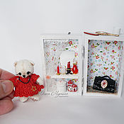 Куклы и игрушки ручной работы. Ярмарка Мастеров - ручная работа Модный дом для мишки. Handmade.