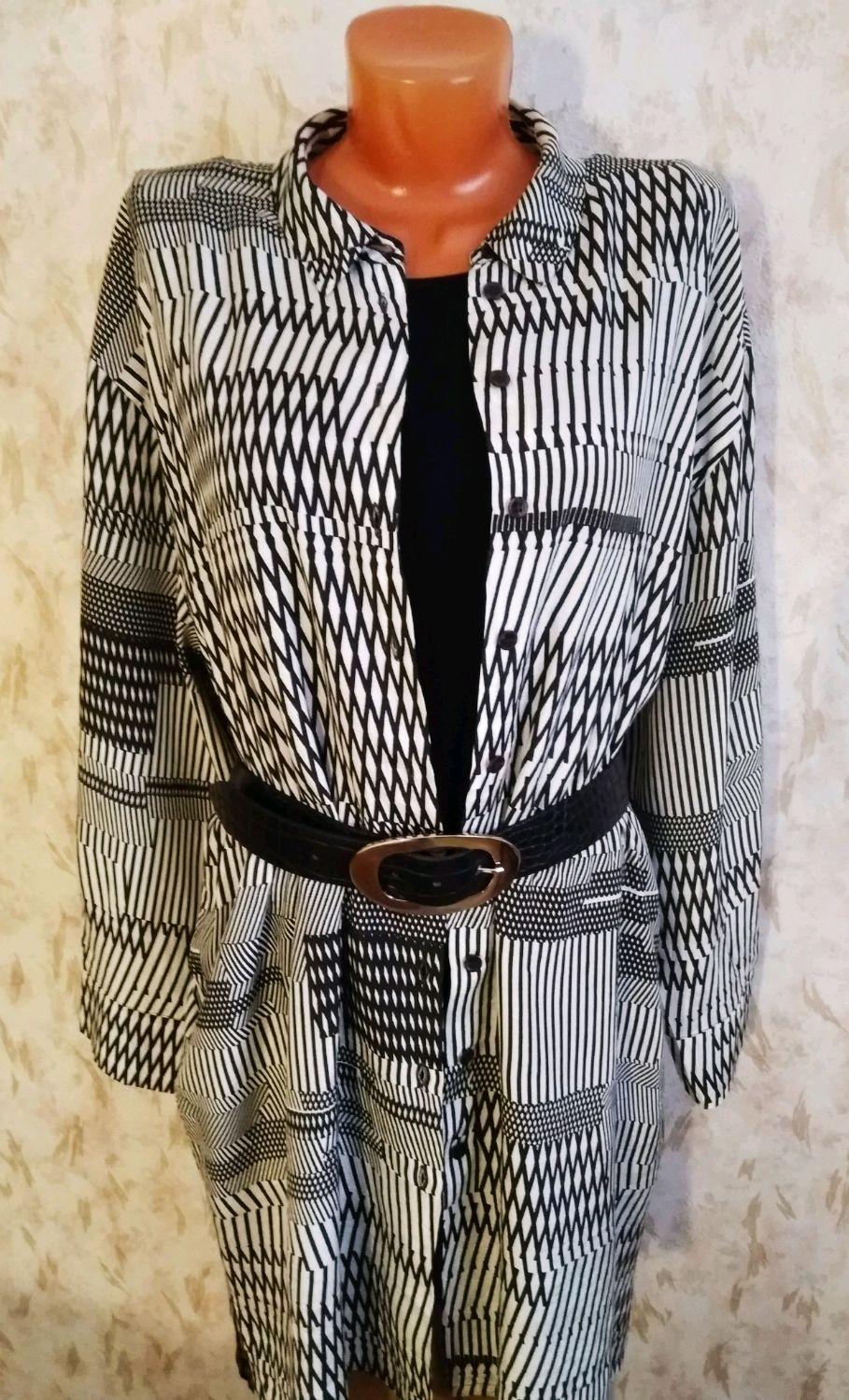 Винтаж: Продано 54 размер Длинная блуза из вискозы Masai, Винтажная одежда, Фирово,  Фото №1