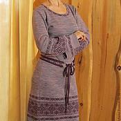 Одежда ручной работы. Ярмарка Мастеров - ручная работа вязаное платье Рута. Handmade.