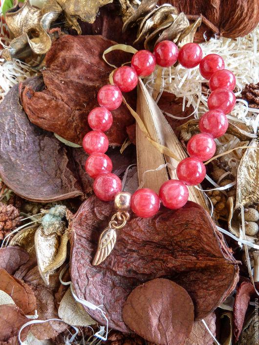 Браслеты ручной работы. Ярмарка Мастеров - ручная работа. Купить Браслет из натуральных камней / Красный Агат / gvn36. Handmade.