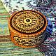 Шкатулки ручной работы. Ярмарка Мастеров - ручная работа. Купить Шкатулка из бересты прорезная с янтарем. Handmade. Янтарь натуральный