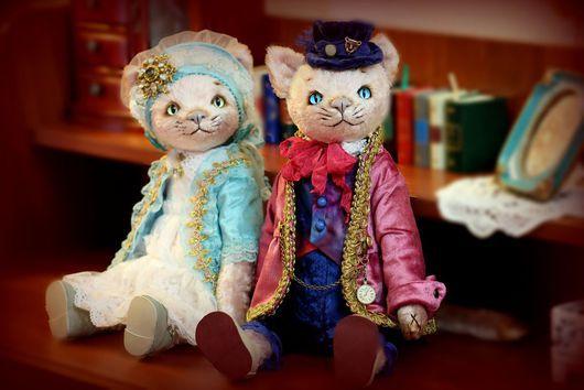 Мишки Тедди ручной работы. Ярмарка Мастеров - ручная работа. Купить Кошки Тедди 35 см. Handmade. Мишки тедди