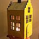 Освещение ручной работы. Ярмарка Мастеров - ручная работа. Купить Домик-малыш желтый. Handmade. Желтый, светильник, интерьер