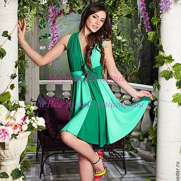 Одежда ручной работы. Ярмарка Мастеров - ручная работа Зеленое платье трансформер. Handmade.
