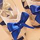 """Свадебные аксессуары ручной работы. Свадебный набор  """"Синее серебро"""". Студия дизайна 'Шпилька'. Ярмарка Мастеров. Бокалы для молодоженов"""
