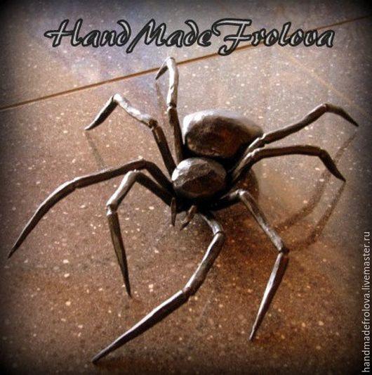 Элементы интерьера ручной работы. Ярмарка Мастеров - ручная работа. Купить Кованный паук, кованная картина, роза, художественная ковка. Handmade.