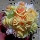Мыло ручной работы. Ярмарка Мастеров - ручная работа. Купить мыло букет роз. Handmade. Оранжевый, белый, розовый