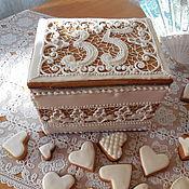 Сувениры и подарки handmade. Livemaster - original item Gingerbread box. A birthday present.gingerbread ginger.. Handmade.