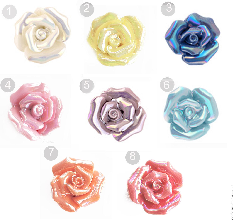 Керамические Розы, 20 мм (8 видов)арт. Burose00, Бусины, Москва, Фото №1