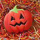 """Подарки на Хэллоуин ручной работы. Пряник """"Тыква на хеллоуин"""". A&E Красивые сладости.. Ярмарка Мастеров. Тыква Джек, пряничное тесто"""