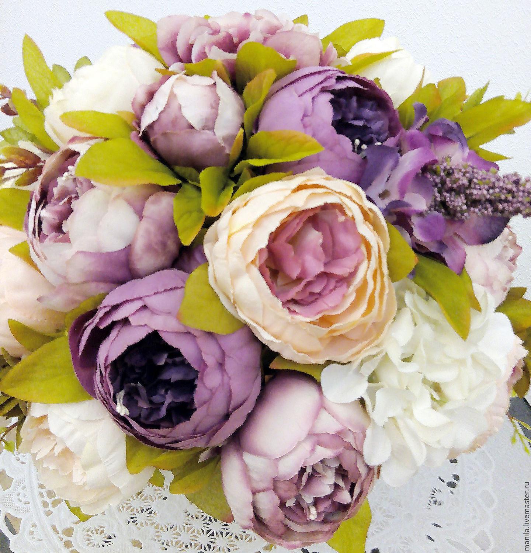 Купить цветы искусственные пионы