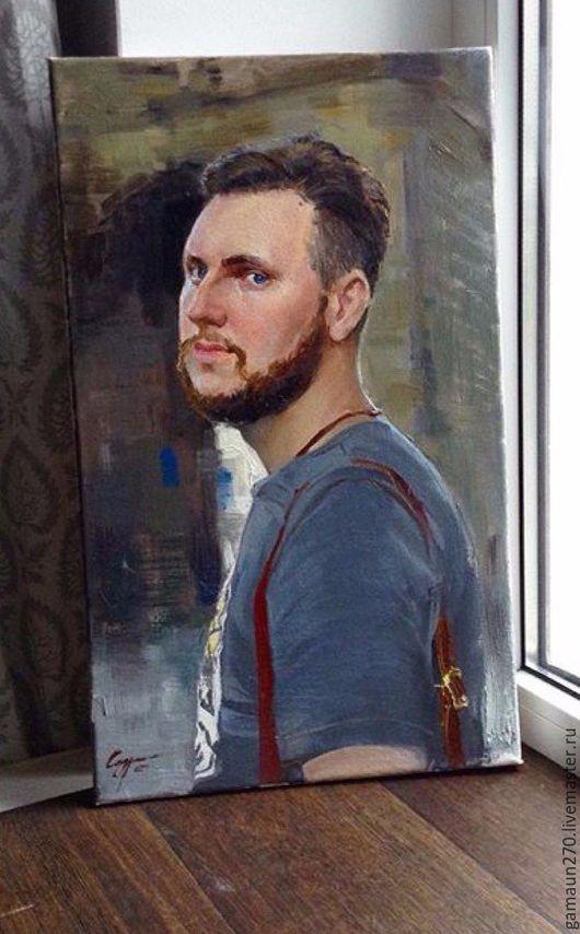 Люди, ручной работы. Ярмарка Мастеров - ручная работа. Купить Портрет. Handmade. Тёмно-синий, портрет на заказ, подарок