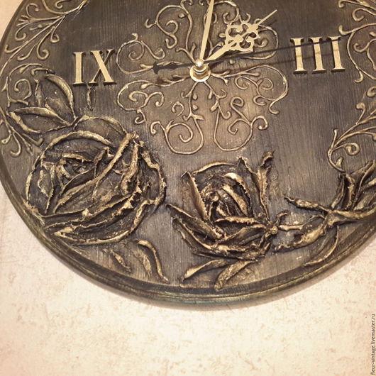 Часы для дома ручной работы. Ярмарка Мастеров - ручная работа. Купить Часы. Handmade. Золотой, часы ручной работы