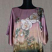 Одежда ручной работы. Ярмарка Мастеров - ручная работа Блузон-батик``Французские розы``. Handmade.