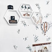 Для дома и интерьера handmade. Livemaster - original item Shelves: Cell wall. Handmade.