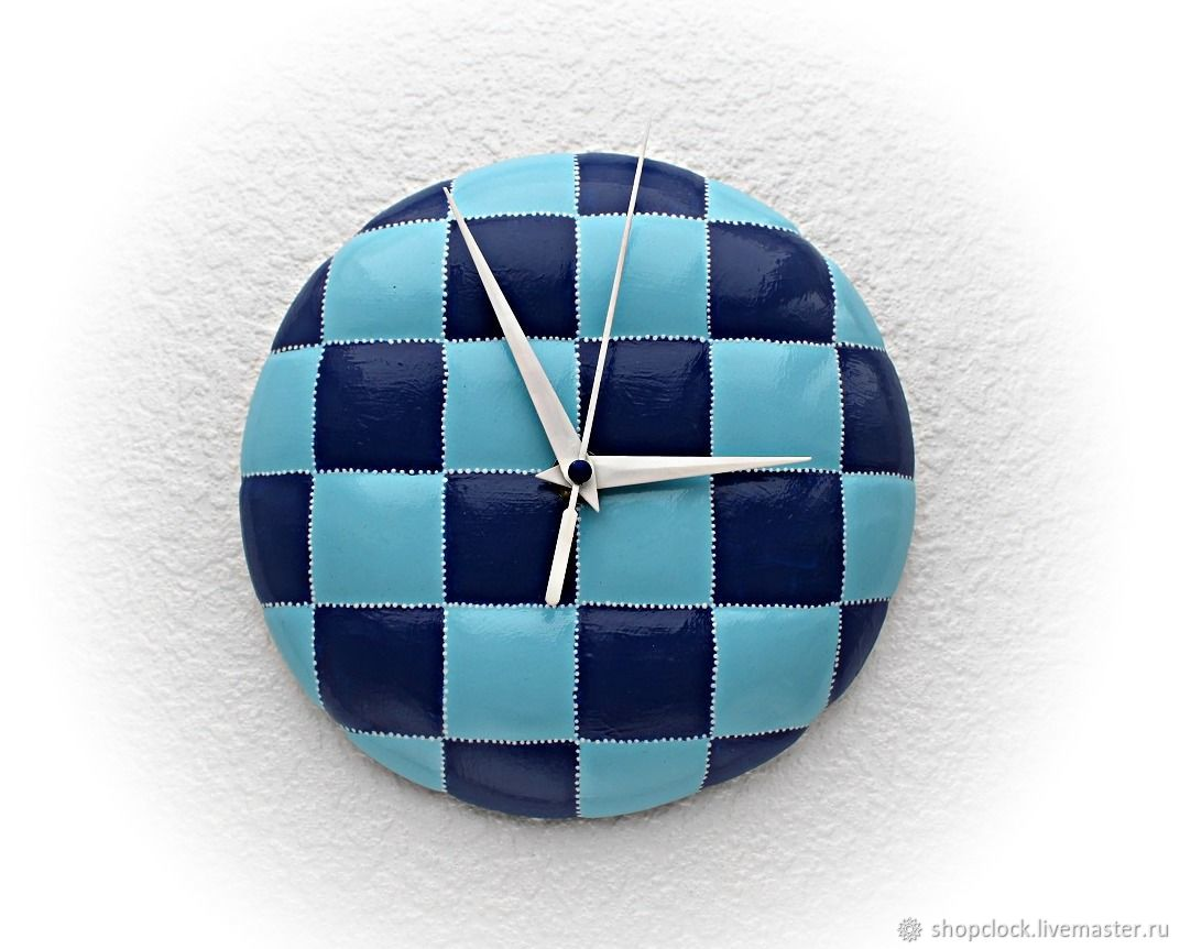 Wall clock made of plaster Blue cage, Watch, Novosibirsk,  Фото №1