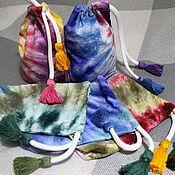 Сумки и аксессуары handmade. Livemaster - original item Ekosumki: Bag,cosmetic bag, ,100% cotton,hand dyeing,17h21 cm. Handmade.