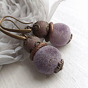 Украшения handmade. Livemaster - original item Earrings lilac watercolor. Handmade.