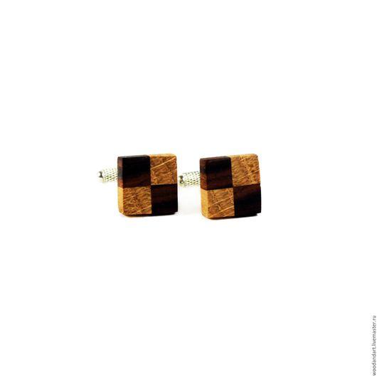 Запонки ручной работы. Ярмарка Мастеров - ручная работа. Купить Запонки из дерева. Палисандр+ Дуб. Handmade. Коричневый, подарок мужчине
