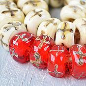 Украшения ручной работы. Ярмарка Мастеров - ручная работа Мальта - бусины лэмпворк для браслета в стиле пандора. Handmade.