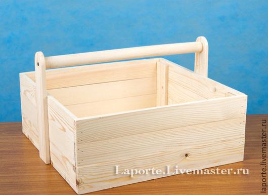 реечный ящик с ручкой, большая деревянная заготовка для творчества с ручкой