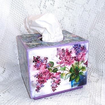 Для дома и интерьера ручной работы. Ярмарка Мастеров - ручная работа Салфетница Запах Сирени. Handmade.