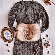 Одежда ручной работы. Ярмарка Мастеров - ручная работа Кашемировое платье с аранами. Handmade.