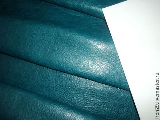 """Шитье ручной работы. Ярмарка Мастеров - ручная работа. Купить Натуральная кожа """"Бирюза"""". Handmade. Кожа, материалы для творчества"""