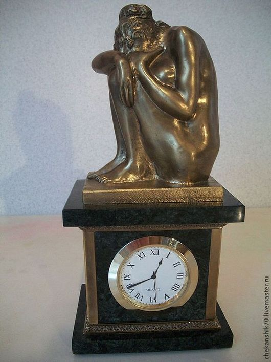 Часы для дома ручной работы. Ярмарка Мастеров - ручная работа. Купить Часы кабинетные с девушкой. Handmade. Часы кабинетные, мрамор